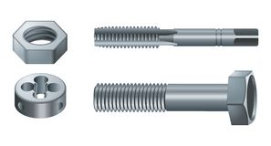 Screws & Nuts. Vector illustration of Screws & Nuts Royalty Free Stock Photo