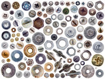 Screws and nuts. Stock Images