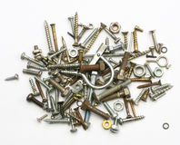 Screws, nuts and bolts Stock Image