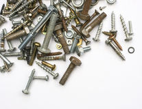 Screws, nuts and bolts Stock Images