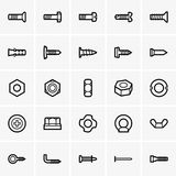 Screws and nuts icons Stock Images