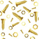 Screws and nuts over white background Stock Photo