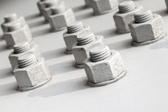 Screws and nuts  Stock Images