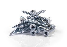 Free Screws On White Royalty Free Stock Photo - 113646065