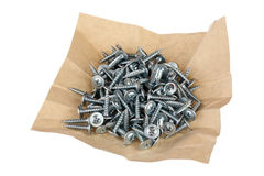 White screws Royalty Free Stock Image