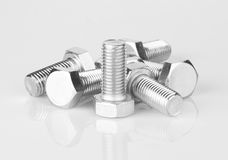 Screws with reflection Royalty Free Stock Photography
