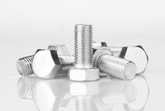 Screws with reflection Stock Photo