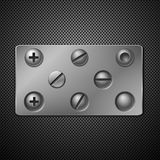 Screws and rivets. Royalty Free Stock Photo