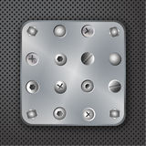 Screws rivets and bolts illustration Royalty Free Stock Photo