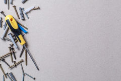 Screws and screwdriver Royalty Free Stock Photo