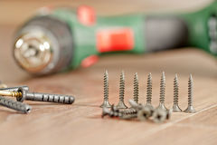 Screws and screwdriver Royalty Free Stock Photography