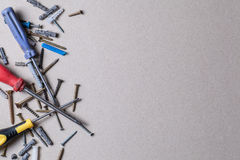 Screws and screwdrivers Royalty Free Stock Photo