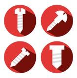 4 screws Royalty Free Stock Image