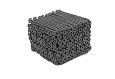 Screws stacked into a cube Stock Photo