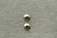 Screws in Stainless Steel Royalty Free Stock Images