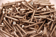 Screws - stainless steel Stock Photos