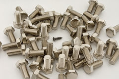 Screws to bolts Royalty Free Stock Photos