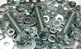 Screws and washers Royalty Free Stock Photography