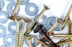 Screws and washers Stock Images