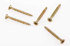 Screws on white background Stock Image