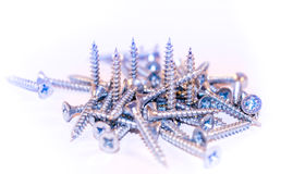 Screws. On a white background Royalty Free Stock Image