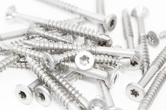 Screws on white background Royalty Free Stock Image