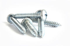 Screws on white Royalty Free Stock Photo