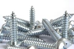 Screws on white Royalty Free Stock Photography