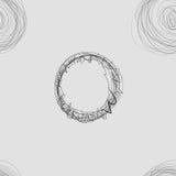 Scribble объезжает безшовную картину Стоковое Изображение RF