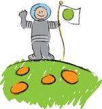 scribble ребенка s астронавта Стоковые Изображения RF
