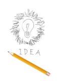 scribble света чертежа шарика Стоковые Фото