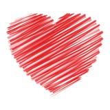 scribble сердца Стоковое Изображение