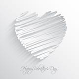 Предпосылка сердца Scribble Стоковые Изображения RF