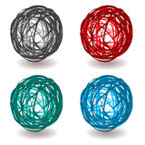 Scribble abstract ball Stock Image