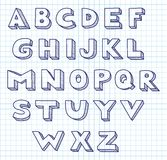 Scribble alphabet. Royalty Free Stock Photography