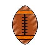 Scribble american football ball cartoon Stock Images