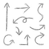 Scribble Arrows vector illustration