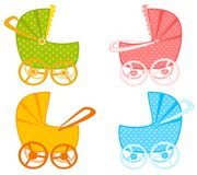 Scribble baby carriage Stock Photo