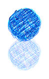 Scribble ball Royalty Free Stock Photography