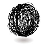Scribble ball Royalty Free Stock Image