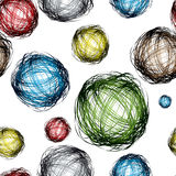 Scribble ball color Stock Photos