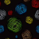 Scribble ball color black Stock Photos