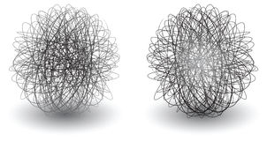 Scribble balls Royalty Free Stock Image