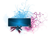 Scribble banner. Floral banner for your advert text Royalty Free Stock Photo
