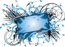 Scribble banner2. Banner for your business place your black text center royalty free illustration