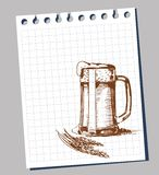 Scribble beer mug Stock Photos
