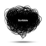 Scribble black bubble Royalty Free Stock Image