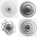 Scribble. Black and white vector design element. Stock Photography