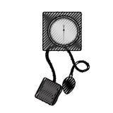 Scribble Blood plessure apparatus cartoon Stock Images