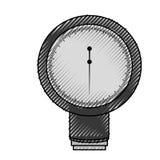 Scribble Blood plessure apparatus cartoon Royalty Free Stock Image